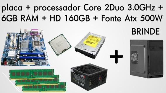 Cpu Core 2 Duo 3.0ghz-6gb Ram Ddr2-fonte Atx 500w