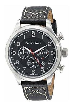 Reloj Nautica Original Caballero Chrono Negro Nuevo Promo!