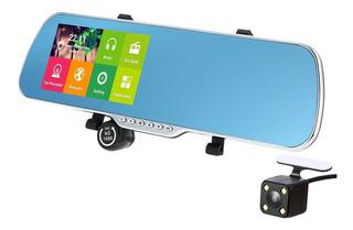 5android 4.4 Espejo Retrovisor De Smart Gps Con Cámara