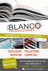 Imprenta Offset/digital - Folletos, Catálogos, Revistas
