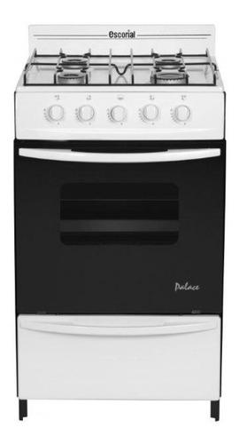 Imagen 1 de 2 de Cocina Escorial Palace gas envasado 4 hornallas  blanca 220V puerta  con visor