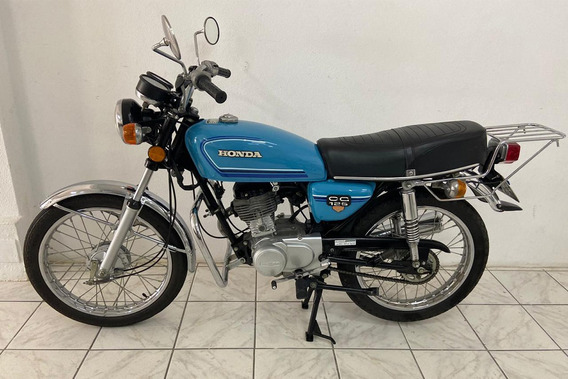 Honda Cg 125 1982 82 - Original Placa Preta - Antiga Bolinha