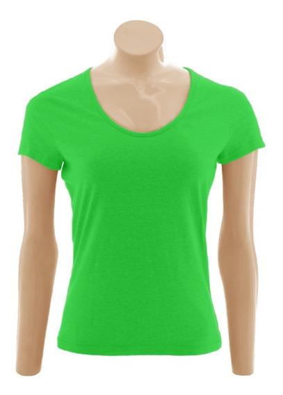 Camiseta Baby Look Gola Redonda, Algodão - 3 Unid