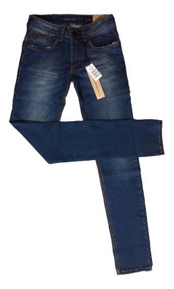 Calça Jeans Masculina C*k Sculpted Slim Fit Stoned Original