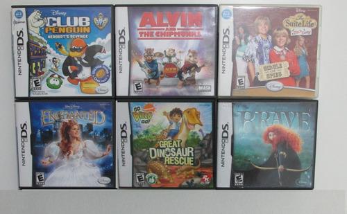 Lote X6 Juegos Originales Para Nintendo Ds