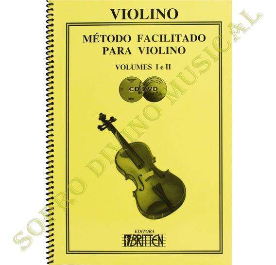 Método Facilitado Violino Vol. 1 E 2 Cd E Dvd Nadilson Gama