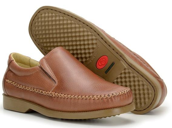 Sapato Masculino Social 100% Couro Pés Diabéticos Confort 01