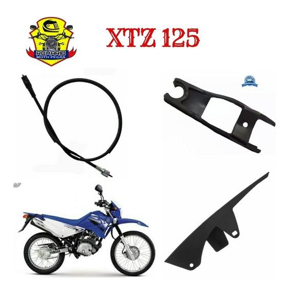Protetor Corrente Xtz 125 +cabo Veloc +guia Transmissão