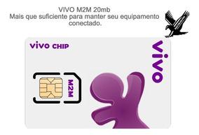 Chip M2m Vivo Telemetria Rastreador Bloqueador Automotivo