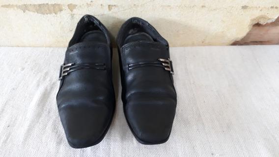 Sapato Masculino De Couro Preto Pegada N° 40 Cod 3322