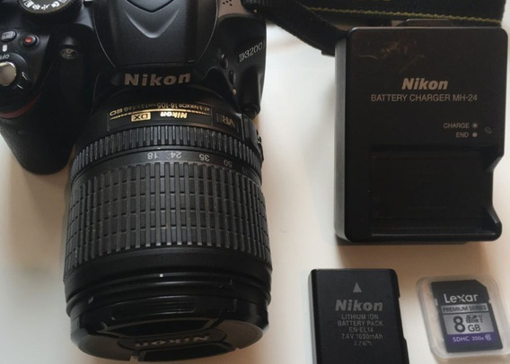 Câmera Nikon D3200 Lente Nikkor 18-55 Profissional Ótima