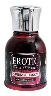 Aceite Comestible Frutilla Chocolate 30ml Sexshop Concepcion