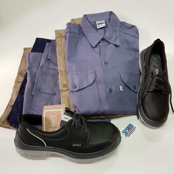 Conjunto Ropa Ombu Camisa + Pantalon + Calzado Boris Siseb