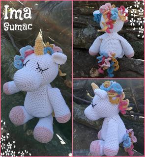 Unicornio Tejido Crochet Amigurumi - $ 240,00 en Mercado Libre en ... | 320x295