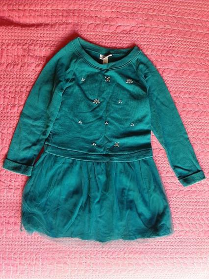 Vestido Verde De Niña Cherokee Talla S (6)