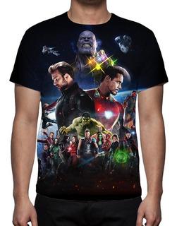 Camisa, Filme Vingadores Guerra Infinita 03 - Estampa Total