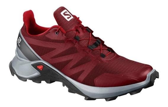 Zapatillas Salomon Supercross Rojo/gris - Corner Deportes
