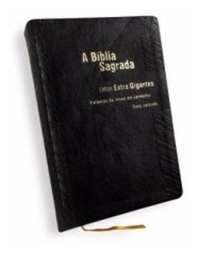 Bíblia Trinitariana Letra Extragigante Texto Colorido Preta