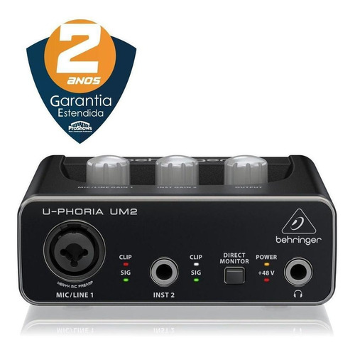 Interface De Audio Behringer Um-2 Nota Fiscal 2 Anos De Gara