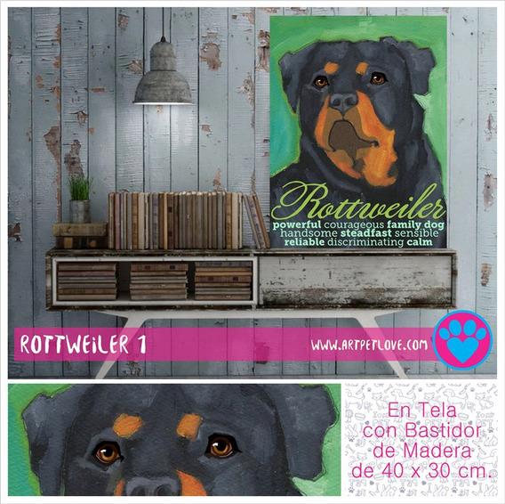 Cuadro - Art Pet Love - Rottweiler 1.
