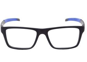7ca85141c Óculos De Grau Hb93119 710 Preto Fosco E Azul Lente 5,3 Cm