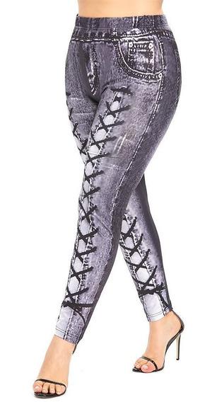 Leggings Con Estampado 3d De Cintura Alta De Talla Grande Pa