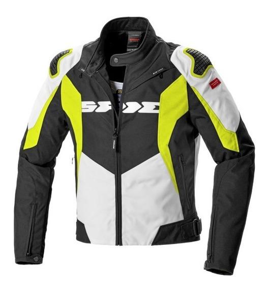 Chamarra Moto Deportiva Spidi Warrior Tex Sport Amarillo