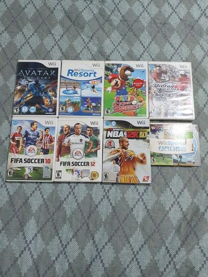 Coleção De 8 Jogos De Wii