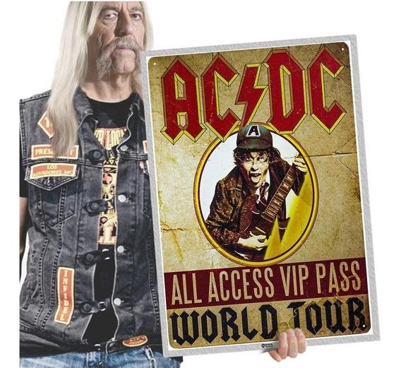 Quadro Placa Acdc Rock Blues Heavy Metal Tamanho A2 27