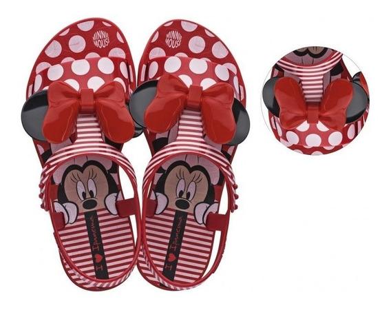 Sandália Infantil Minnie Dots Disney Vermelho Ipanema Zito