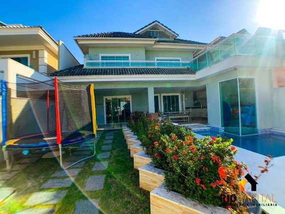 Casa Com 3 Dormitórios À Venda, 290 M² Por R$ 1.490.000,00 - Recreio Dos Bandeirantes - Rio De Janeiro/rj - Ca0155