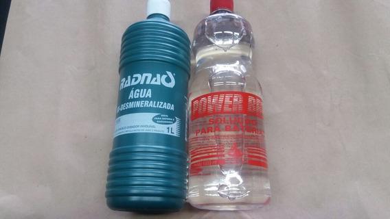 1 Litro De Agua E 1 Litro De Solução De Bateria*