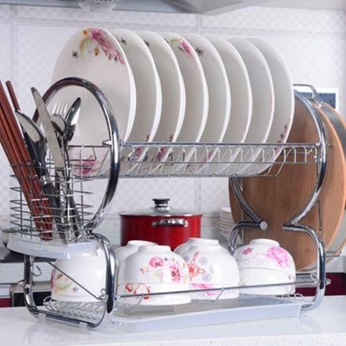 Imagen 1 de 3 de Escurridor De Cocina De 2 Niveles Kitchen Sink En Acero