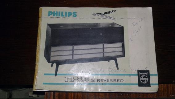 Vitrola Rádio E Gravador De Rolo Phillips Da Década De 1960