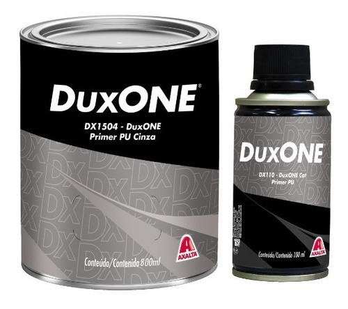 Imagem 1 de 1 de Dx1504 - Kit Primer Pu Cinza + Catalizador Dx110