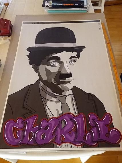 Deco Vinilo Chaplin 89x59