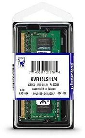 Memoria P/note 4gb Kingston Ddr3 1600mhz Kvr16s11/4