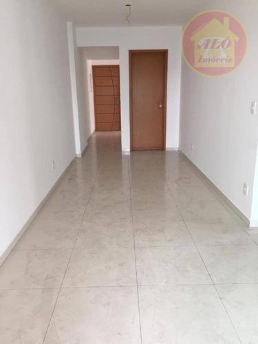 Apartamento Com 3 Dormitórios À Venda, 86 M² Por R$ 480.000,00 - Vila Guilhermina - Praia Grande/sp - Ap4008