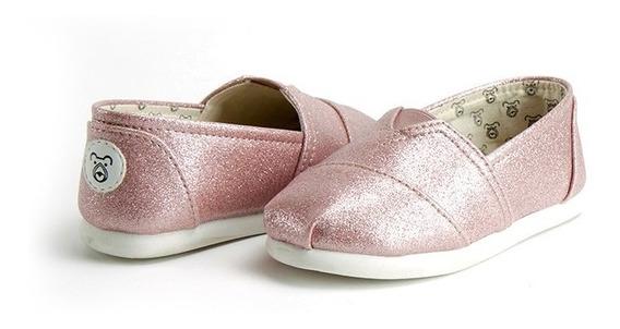 Alpargata Infantil E Alpargata Bebê Pink Gliter