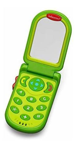 Imagen 1 de 5 de Infantino Flip Y Peek Fun Phone, Teal