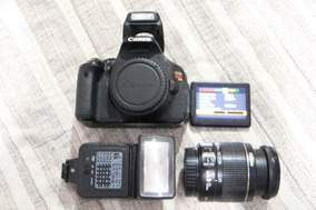 Camera Canon T3i Com Lente 18-55mm E Flash