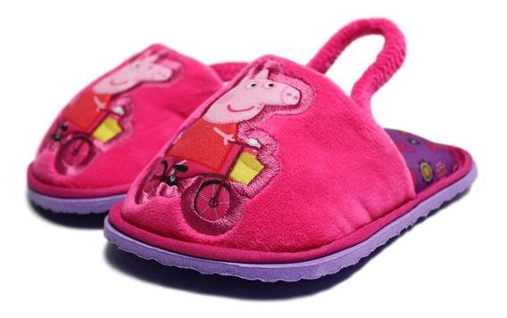 Pantufla De Peppa Pig Para Niña Color Rosa Con Fiusha
