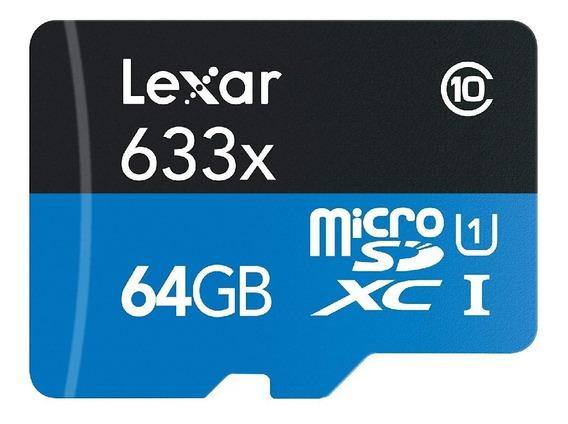 Cartão Micro Sd Lexar 633x 64gb 95mb/s Classe 10 V30 Gopro