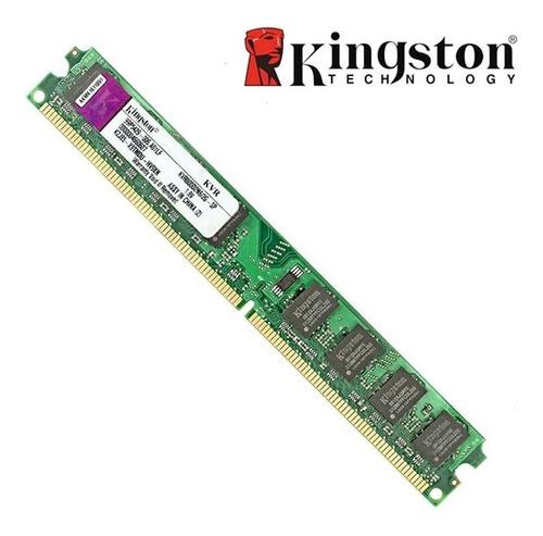 Imagem 1 de 1 de Memória Ram 2gb Kingston Kvr800d2n6 Para Desktop Cpu