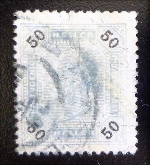 Austria, Sello Yv. 75b 50 H Brillantes 1899 Usado L10402