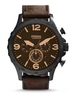 Reloj Fossil Jr1487 100% Original Cuero Cronografo