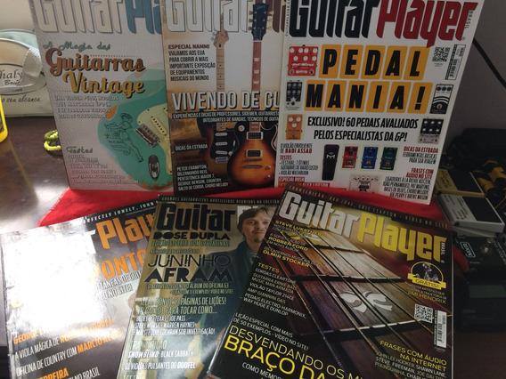 Coleção De Revistas Guitar Player 2013 Com 6 Unidades