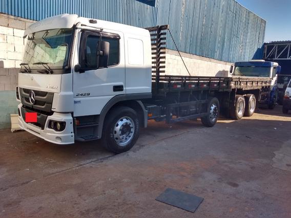 Caminhão Bitruck Mb Atego 2429 Carroceria De 9,50 M. Com Ar