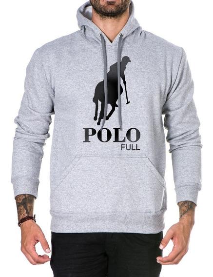 Moletom Blusa Classic Casual Capuz Blusa De Frio Polo Full