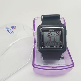 Relógio Feminino Infantil Rosa Grande Analógico E Digital